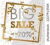 gold big sale in golden frame... | Shutterstock .eps vector #1227913534