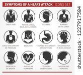 symptoms of a heart attack.... | Shutterstock .eps vector #1227917584