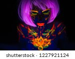 portrait of beautiful fashion... | Shutterstock . vector #1227921124