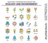 ecology and enviroment flat... | Shutterstock .eps vector #1227922111
