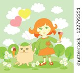 illustration of the girl and... | Shutterstock . vector #122792251