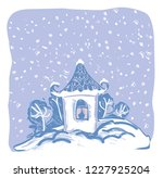 winter greeting card.  vector... | Shutterstock .eps vector #1227925204
