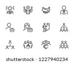 headhunting icon. set of line... | Shutterstock .eps vector #1227940234