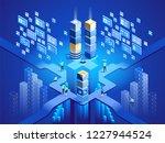 technology isometric concept.... | Shutterstock .eps vector #1227944524