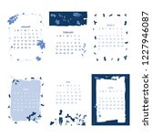 floral 2019 calendar. yearly... | Shutterstock .eps vector #1227946087