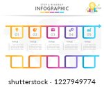 infographic template for... | Shutterstock .eps vector #1227949774