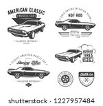 set of classic muscle car... | Shutterstock . vector #1227957484