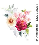 vector card with floral pattern ... | Shutterstock .eps vector #1227960217