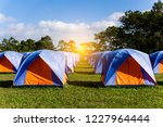 Camping And Tent On Mountain...