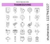 thanksgiving  line icon set  ... | Shutterstock .eps vector #1227965227
