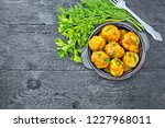 meatballs with tomato sauce in... | Shutterstock . vector #1227968011