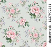 seamless watercolor pattern... | Shutterstock . vector #1227972361