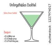 daiquiri alcoholic cocktail... | Shutterstock .eps vector #1227974017