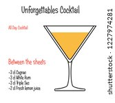 between the sheets alcoholic... | Shutterstock .eps vector #1227974281
