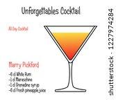 marry pickford alcoholic... | Shutterstock .eps vector #1227974284