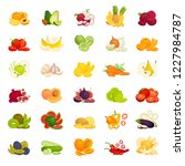 a set of vegetables and fruits. ... | Shutterstock .eps vector #1227984787