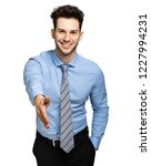 young manager giving you a... | Shutterstock . vector #1227994231