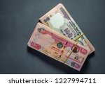 hundred indian rupees and uae... | Shutterstock . vector #1227994711