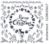 merry christmas and happy new... | Shutterstock .eps vector #1228010617