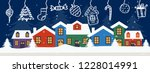 merry christmas and happy new...   Shutterstock .eps vector #1228014991