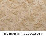 beige natural wool with twists... | Shutterstock . vector #1228015054