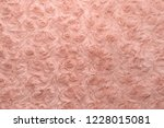 pink natural wool with twists... | Shutterstock . vector #1228015081