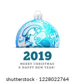christmas ball in the style of... | Shutterstock . vector #1228022764
