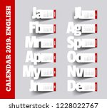 simple 2019 calendar. paper... | Shutterstock .eps vector #1228022767