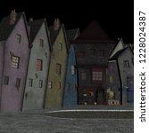 cartoon street in cartoon... | Shutterstock . vector #1228024387