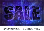 banner for winter sale. ice... | Shutterstock .eps vector #1228037467