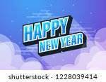 blue sky background with happy... | Shutterstock .eps vector #1228039414
