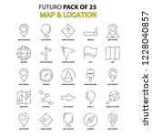 map and location icon set.... | Shutterstock .eps vector #1228040857