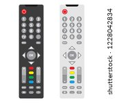 tv remote  tv remote icon. two... | Shutterstock .eps vector #1228042834