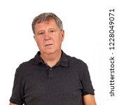portrait of mature man in black ... | Shutterstock . vector #1228049071