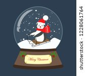 christmas snow globe with... | Shutterstock . vector #1228061764