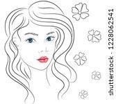 beautiful young girl. fashion   ... | Shutterstock .eps vector #1228062541