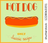 Retro Style Poster. Hot Dog...