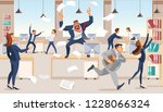 angry boss screams in chaos at... | Shutterstock .eps vector #1228066324