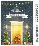 merry christmas and happy new... | Shutterstock .eps vector #1228069324