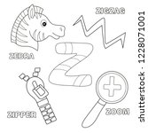alphabet z   worksheet... | Shutterstock .eps vector #1228071001
