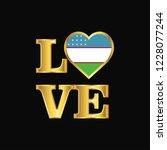 love typography uzbekistan flag ...   Shutterstock .eps vector #1228077244