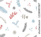 vector colorful floral pattern  ...   Shutterstock .eps vector #1228085587