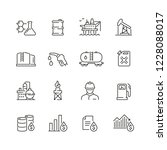 oil related icons  thin vector... | Shutterstock .eps vector #1228088017