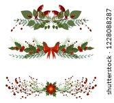 christmas tree branch... | Shutterstock .eps vector #1228088287