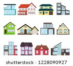 town house cottage set... | Shutterstock .eps vector #1228090927