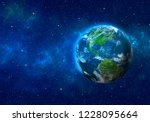 planet earth in space. north...   Shutterstock . vector #1228095664