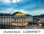 beautiful view of the square in ... | Shutterstock . vector #1228095877