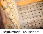 old wooden chair with spikes... | Shutterstock . vector #1228096774