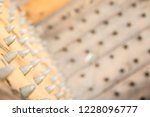 old wooden chair with spikes... | Shutterstock . vector #1228096777