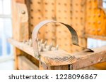 old wooden chair with spikes... | Shutterstock . vector #1228096867